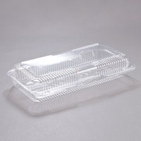 Dart Solo C90UT1 StayLock 13 3/8 inch x 6 3/4 inch x 2 5/8 inch Clear Hinged Plastic 13 inch Strudel Container - 200/Case