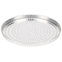 American Metalcraft SPA4014 14 inch x 1 inch Super Perforated Standard Weight Aluminum Straight Sided Pizza Pan