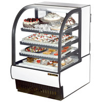 True TCGR-31 31 inch White Curved Glass Refrigerated Bakery Display Case - 16.5 Cu. Ft.