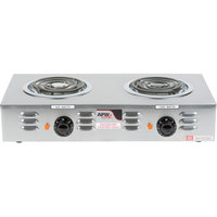 APW Wyott CP-2A Champion Double Open Burner Portable Electric Hot Plate - 120V, 1800W