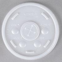 Dart 10SL Translucent Lid with Straw Slot - 1000/Case