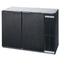 Beverage Air BB48Y-1-BK 48 inch Black Back Bar Wine Series Refrigerator - Narrow Depth, 2 Solid Door