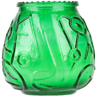 Sterno Products 40126 4 1/8 inch Green Venetian Candle - 12 / Pack
