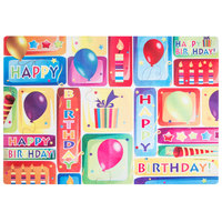 Hoffmaster 856746 10 inch x 14 inch Happy Birthday Placemat Combo Pack - 200 / Case