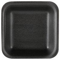Genpak 1501 (#1) Black 5 1/4 inch x 5 1/4 inch x 1 inch Foam Supermarket Tray - 500 / Case