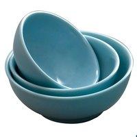 Blue Jade 12 oz. Round Melamine Bowl, 5 inch - 12/Case