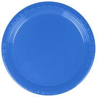 Creative Converting 28145011B 7 inch Blue Plastic Plate - 600 / Case