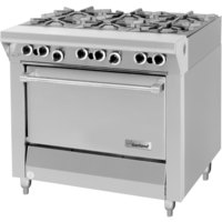 Garland M43S Master Series Natural Gas 6 Burner 34 inch Range with Storage Base - 144,000 BTU