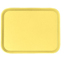 Cambro 1418FF108 Primrose Yellow 14 inch x 18 inch Customizable Fast Food Tray 12/Case