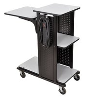 Luxor / H. Wilson WPS4HDE Presentation Station Cart - 34 inch x 18 inch x 38 inch