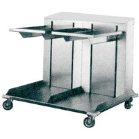 APW Wyott Lowerator CTRD-1014 Double Mobile Open Cantilever Tray Dispenser for 10 inch x 14 inch Trays