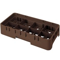 Cambro 8HS638167 Brown Camrack 8 Compartment 6 7/8 inch Half Size Glass Rack