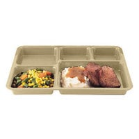Cambro 1411CP161 14 3/8 inch x 10 9/16 inch Tan Tray on Tray Base Tray - 24/Case
