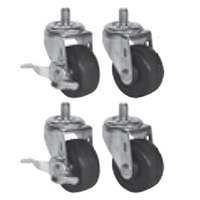 Beverage Air 61C01-005A 3 inch Replacement Casters - 4 / Set