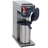 Bunn 23001.0008 CWTF35 APS Airpot Brewer with Black Plastic Funnel and Hot Water Faucet - 120/208-240V