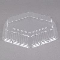 Genpak 94710 Smart-Set 10 inch Clear Dome Hexagonal Lid - 200/Case
