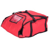 San Jamar PB20-12 20 inch x 18 inch x 12 inch Insulated Red Pizza Delivery Bag - Nylon
