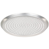 American Metalcraft TDEP15SP 15 inch x 1 inch Super Perforated Tin-Plated Steel Tapered / Nesting Deep Dish Pizza Pan