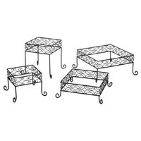 Tablecraft BK2RS Square 4 Piece Black Metal Riser