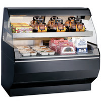 Alto-Shaam ED2SYS-48/2S BK Black Two-Tiered Heated Display Case with Curved Glass and Base - Self Service 48 inch