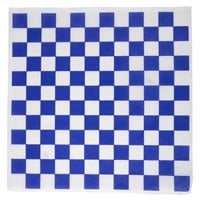 Choice 12 inch x 12 inch Blue Check Deli Sandwich Wrap Paper - 5000/Case