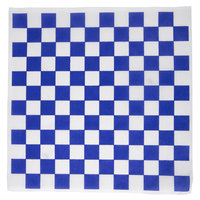 Choice 12 inch x 12 inch Blue Check Deli Sandwich Wrap Paper - 5000 / Case