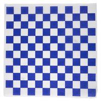 Choice 12 inch x 12 inch Blue Check Deli Sandwich Wrap Paper - 5000/Case