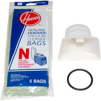 Hoover 4010050N Type N Disposable Vacuum Bag Pack and Adapter Kit for Hoover PortaPower Lightweight Vacuums