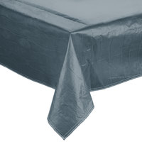 52 inch x 72 inch Blue Vinyl Table Cover with Flannel Back