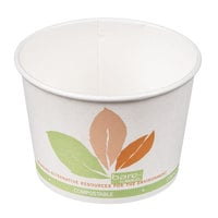 Dart Solo V512PL-JF522 Bare Eco-Forward 12 oz. Paper Soup / Hot Food Cup with Leaf Design - 1200/Case