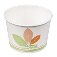 Dart Solo V512PL-JF522 Bare Eco-Forward 12 oz. Paper Soup / Hot Food Cup with Leaf Design - 1200 / Case