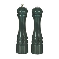 Chef Specialties 10800 Professional Series 10 inch Customizable Autumn Hues Forest Green Pepper Mill and Salt Shaker