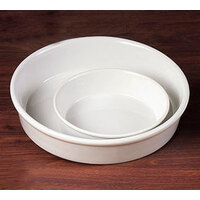 CAC RDP-7 White Round Deep Dish Serving Platter 26 oz. - 24/Case