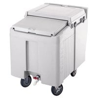 Cambro ICS125L180 Light Gray Sliding Lid Portable Ice Bin - 125 lb. Capacity