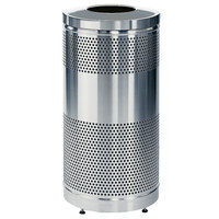 Rubbermaid S3SST Stainless Steel Perforated Waste Receptacle 25 Gallon (FGS3SSTSSPL)
