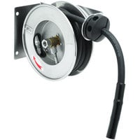 T&S B-7102-08M 12' Open Compact Stainless Steel Hose Reel with B-0108 JeTSpray Spray Valve