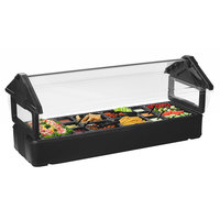 Carlisle 660103 Black 6' Six Star Tabletop Food / Salad Bar with Sneeze Guard