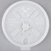 Dart 16FTLS Translucent Lift'n'Lock Lid With Straw Slot - 1000/Case