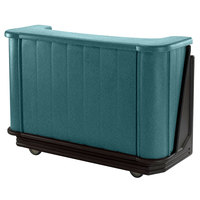 Cambro BAR650PM421 Granite Green and Black Cambar 67 inch Portable Bar with 7-Bottle Speed Rail and Complete Post Mix System
