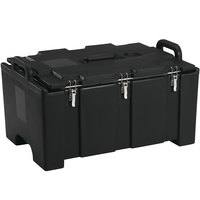 Cambro 100MPC110 Camcarrier Black Top loading Pan Carrier with Handles for 12 inch x 20 inch Food Pans