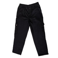 Chef Revival P024BK Size XL Black Chef Cargo Pants - Poly-Cotton