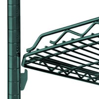 Metro HDM1436Q-DHG qwikSLOT Drop Mat Hunter Green Wire Shelf - 14 inch x 36 inch