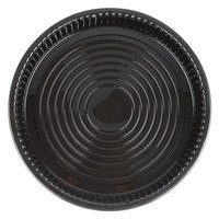 WNA Comet ADEEP516BL Caterline Casuals Black 16 inch Deep Tray / Platter   - 5/Pack