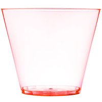 Fineline Savvi Serve 409-ORG 9 oz. Squat Neon Orange Hard Plastic Tumbler - 500/Case