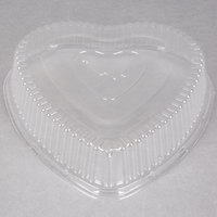 Durable Packaging P9701V Clear Dome Lid for Heart Shaped Foil Bake Pan - 100 / Case