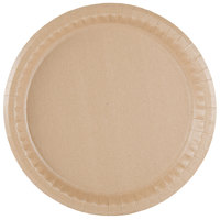 10 1/4 inch Coated Kraft Paper Plate - 400 / Case
