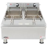 APW Wyott HEF-30-208/240 Heavy Duty 30 lb. Electric Commercial Countertop Deep Fryer - 208/240V