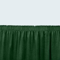 National Public Seating SS16-48 Green Shirred Stage Skirt for 16 inch Stage - 15 inch x 48 inch