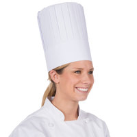 Royal Paper RCH10 10 inch Pleated Disposable Chef Hat - 24/Case
