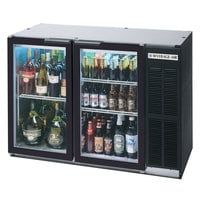 Beverage Air BB48GY-1-B-LED 48 inch Back Bar Refrigerator with 2 Glass Doors - 115V, LED Lighting